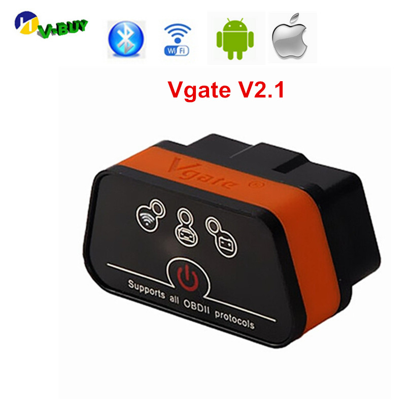 Vgate ICar2 ELM327 V2.1 OBD OBD2 WIFI Bluetooth Scanner Diagnostic Tool WI-FI Adapter ELM 327 V 2.1 OBDII ICar 2 II WI FI Scan