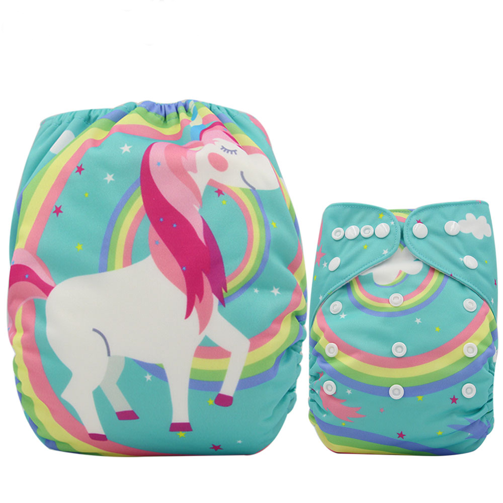 Reusable Diapers Unicorn Washable Nappies One Size Adjustable Couche Lavable Ohbabyka Baby Pocket Cloth Diaper Cover
