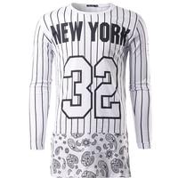The New Men T Shirt 2018 Brand Fashion Tshirt Lengthen Round Neck Tee Shirt Homme Hip