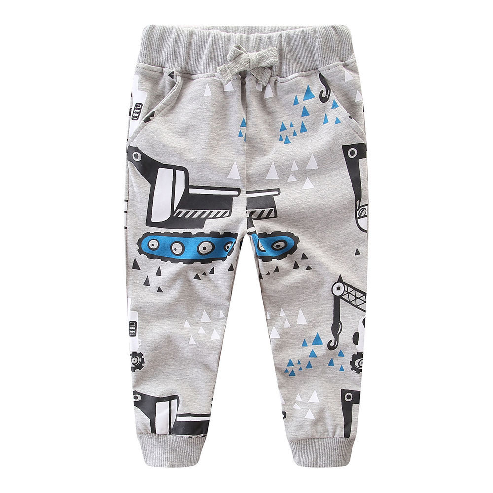 Littlemandy Excavitor Printed Boys Cotton Pants Children Trousers 2018 Autumn Winter Baby Clothes Sweaterpants Kids Leggings купить в Москве 2019