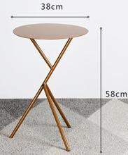 38*58cm Small round Bedside Table Metal Side tables Coffee table