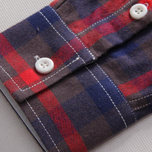 5XL Plaid Shirts Men Checkered Shirt Brand 2018 New Fashion Button Down Long Sleeve Casual Shirts Plus Size