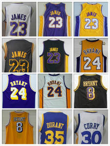 sale retailer 578cb bc74b Basketball Shirt Stitched Kevin Durant  23 LeBron James Lonzo Ball 0 Kyle  Kuzma