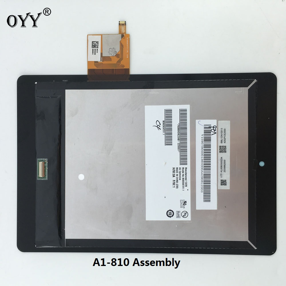 LCD Display Touch Screen Matrix Digitizer Tablet Assembly 7.9'' For Acer iconia tab A1-810 A1 810 A1-811 A1 811 5pcs lot high quality 7 9 for acer iconia a1 830 a1 830 25601g01nsw touch screen sensor tablet digitizer panel front glass lens