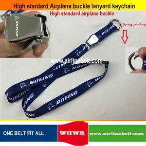 Image 2 - keyring Airbus Boeing aircraft airplane buckle Lanyard Pilot Crews ID Card Holder snap clasp clip Spring Gate ring sling string