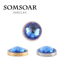 Somsoar jóias azar céu blue12mm extra pequeno ímã substituível moeda para cambio pulseira colar para jóias femininas 10 pçs/lote