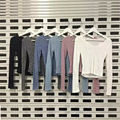 Autumn Women Knitted Short Sweater Pullovers Fashion V-Neck Long Sleeve Casual Slim Stretch Tops 88 H9