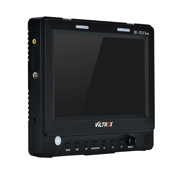 "Viltrox DC-70 EX 7"" 4K HD HDMI/SDI/AV Input Output Camera Video LCD Monitor Display + AC Adapter for Canon Nikon Pentax Olympus"