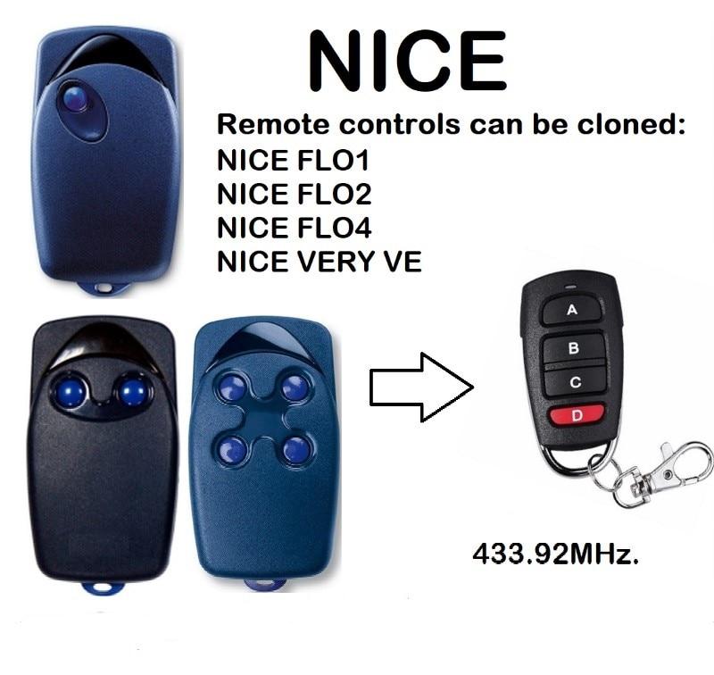 NICE FLO1 FLO2 FLO 4 4channel 433.92MHZ, NICE garage door remote controlNICE FLO1 FLO2 FLO 4 4channel 433.92MHZ, NICE garage door remote control