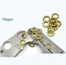 Цена за шайба Flipper Ножи инструменты для ПОДЕЛОК Фиксации Мяч пластина Крепления заклепки 404C Сталь Шариковый подшипник шариковый