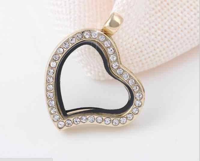 10 шт. 30 мм милое сердце круг Флешка для фотографий магнит стекло живая подвижная медальон с ожерелье с подвеской со стразами