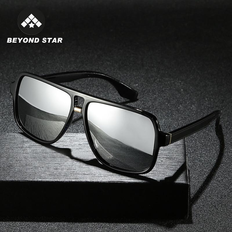 BEYONDSTAR 2019 Vintage Men Polarised Silver Mirror Glasses Polarized Iron Man Tony Stark Sunglasses Retro Lunette Soleil G2089