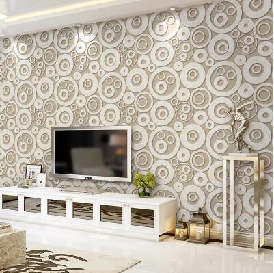 Aliexpress Buy Modern 3d Wallpaper Living Room