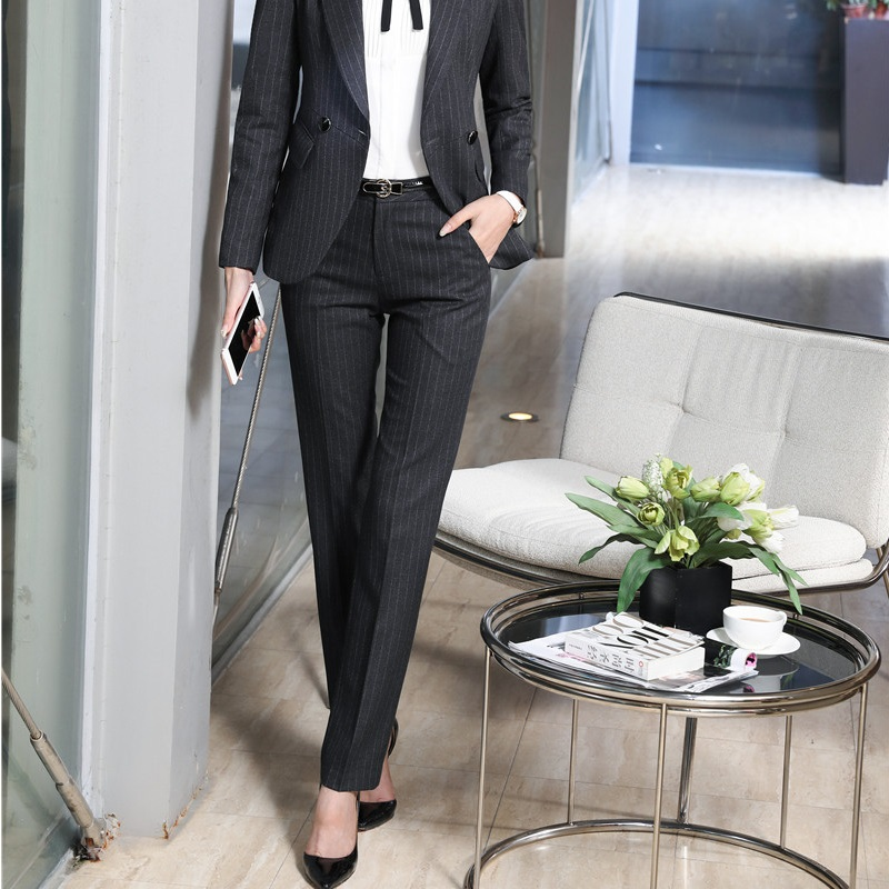 Formal Striped Slim Fashion   Pants   For Ladies Office Business Work Wear Ladies Trendy Skinny Leggings   Pants   Trousers   Capris