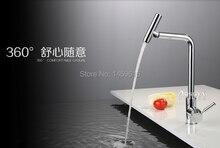 Ингл ручка 360 град. вращения хром пластины кухня кран латунного сплава нажмите w6002
