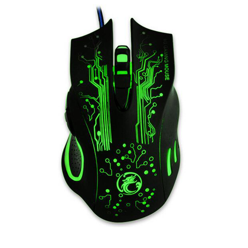 NEW Arrival Wired Gaming Mouse Gamer USB Optical Computer Mouse 5000DPI Professional Game Mice 6 Buttons Ratones PC For cs go X9 image