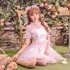 Princess Sweet Lolita DressCandy Rain Exclusive Design Summer Sweet Flower Girl Dress Fairy Princess Stitching Yarn
