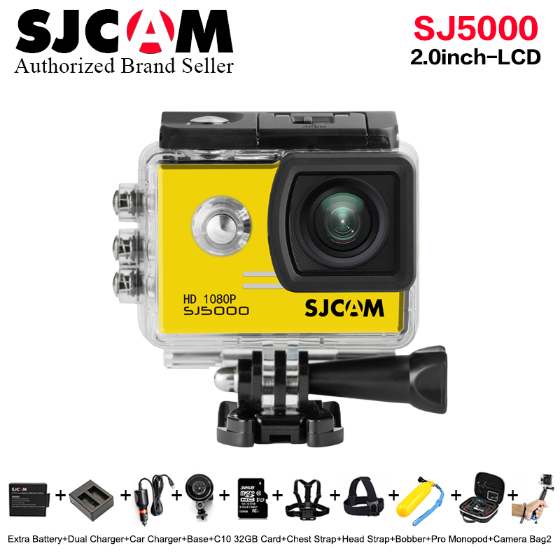 100% Original SJCAM SJ5000 Novatek96655 14MP Diving 30M Waterproof Mini Sports Action Camera Sj 5000 Car DVR better go pro Cam