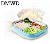 MINI Stainless Steel Insulation Heating Lunch Box Children Lunch Boxes Snack Food Container Pupils Portbale 5