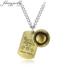 Feimeng-collier pendentif une pièce pour hommes, pendentif, Logo de chien, chapeau de Luffy, crâne, motif Anime, accessoires à la mode