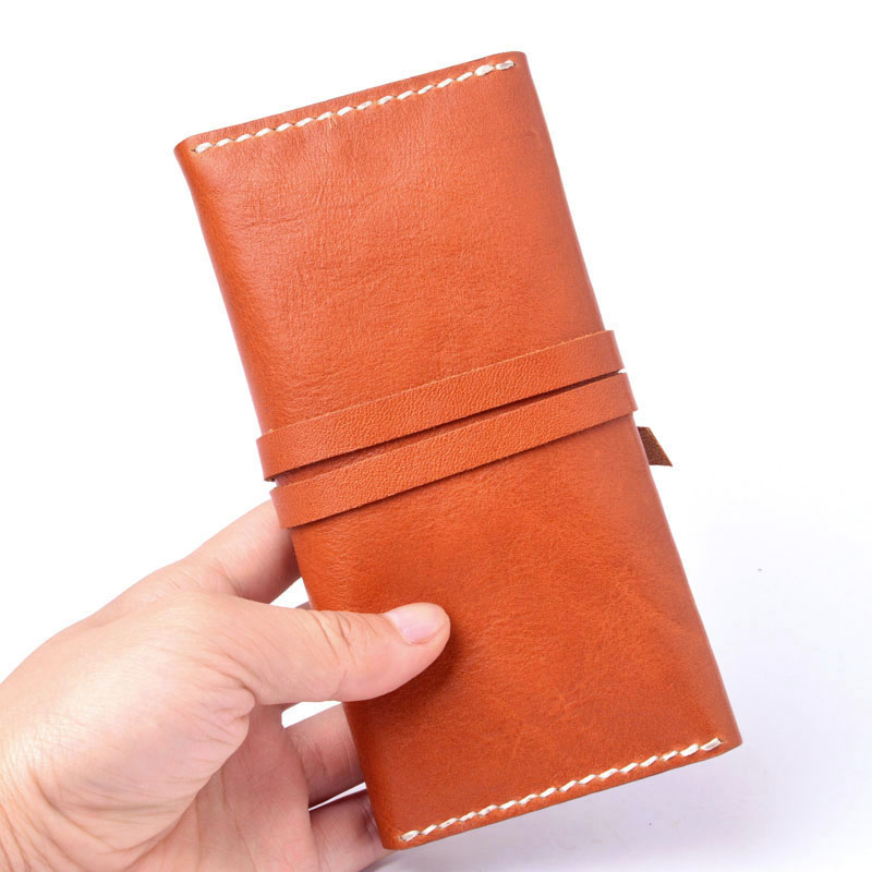 AETOO läder plånbok wome lång sektionsspänne manuell - Plånböcker - Foto 2
