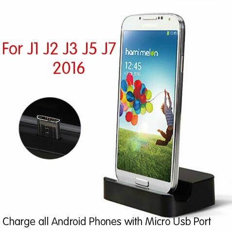 מיקרו USB שולחן העבודה טעינת Dock תחנת Stand מטען לסמסונג גלקסי J1 J2 J3 J5 J7 2016 + כבל מטען