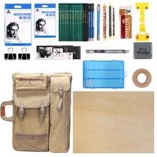 Большая художественная сумка для рисования доска для рисования набор для путешествий эскиз сумка для инструменты для рисования холст живопись товары для рукоделия для художника