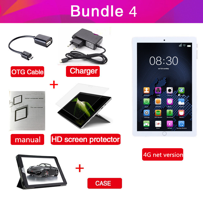 US $71 07 39% OFF|AIBOULLY Original Tablet PC 10 1 inch Android 7 0 OS Octa  Core 4GB RAM 64GB ROM 32GB Phone Call Tablets with GPS WiFi 8 9 7''-in