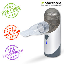 Nebulizador portátil Antarestec PA20 recargable con indicador de batería resistente al agua para niños adultos Asma COPD