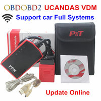 Multi Language Wifi VDM2 UCANDAS VDM V3.9 Auto Diagnostic Scanner Automotive OBD2 Support Full Systems for Windows/Android Phone