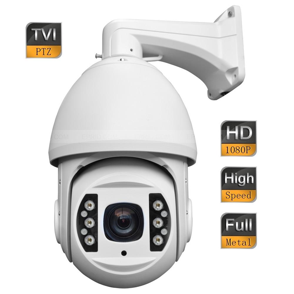 6inch 2MP 1080P TVI High Speed IR Dome PTZ Camera 18x Optical Zoom Full Metal Shell 4 in 1 ir high speed dome camera ahd tvi cvi cvbs 1080p output ir night vision 150m ptz dome camera with wiper