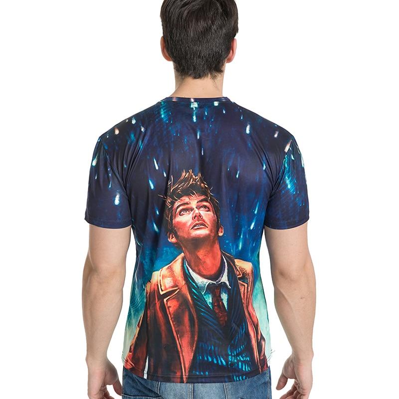 Bianyilong брендовая одежда новая мода Для мужчин/Для женщин T Рубашки для мальчиков глядя на метеорный поток 3D Футболка с принтом летние Футболк...