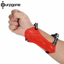 Ourpgone Newest 3 colors Soft Rubber 2 Strap Archery Arm Guard Safety Protection Gear Outdoor Hunting for children and adults