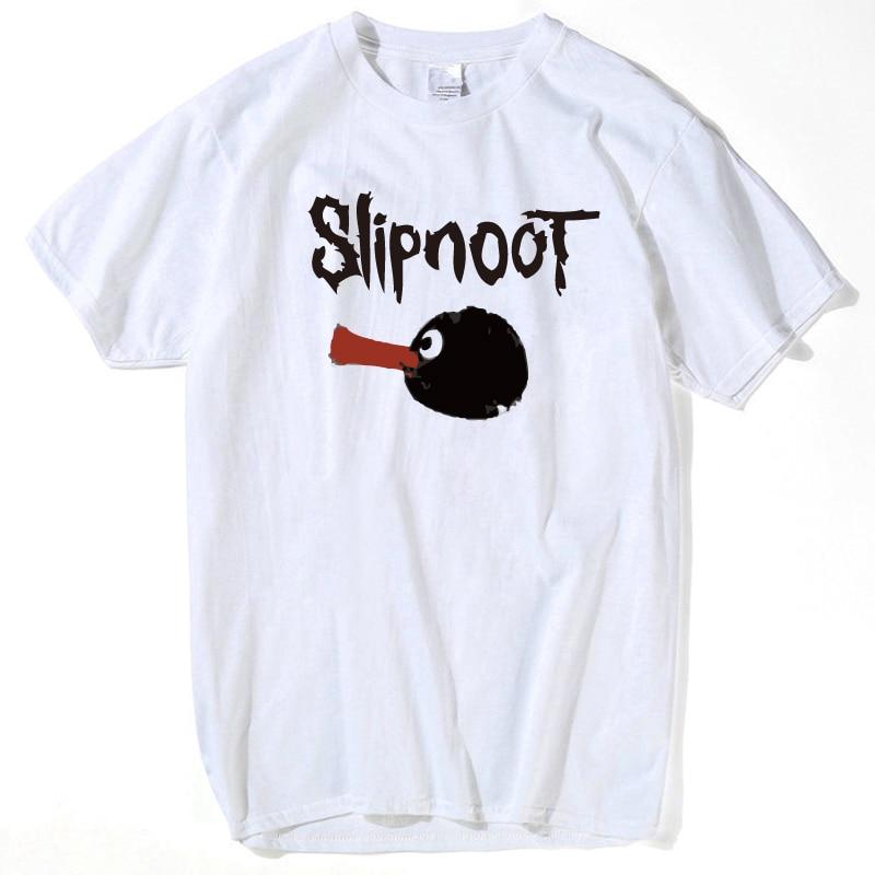 Slipknot Pingu   T     Shirts   Men Short Sleeve Hip Hop Rock   T  -  Shirt   Punk   t  -  shirt   Slipknot Pentagrama womens summer tops and blouses