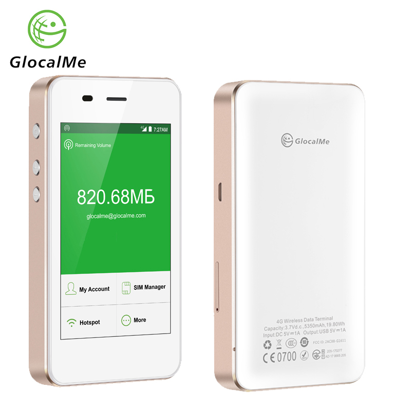 GlocalMe G3 4G LTE Unlocked Mobile WIFI Hotspot Worldwide High Speed No SIM No Roaming Fee Pocket WIFI