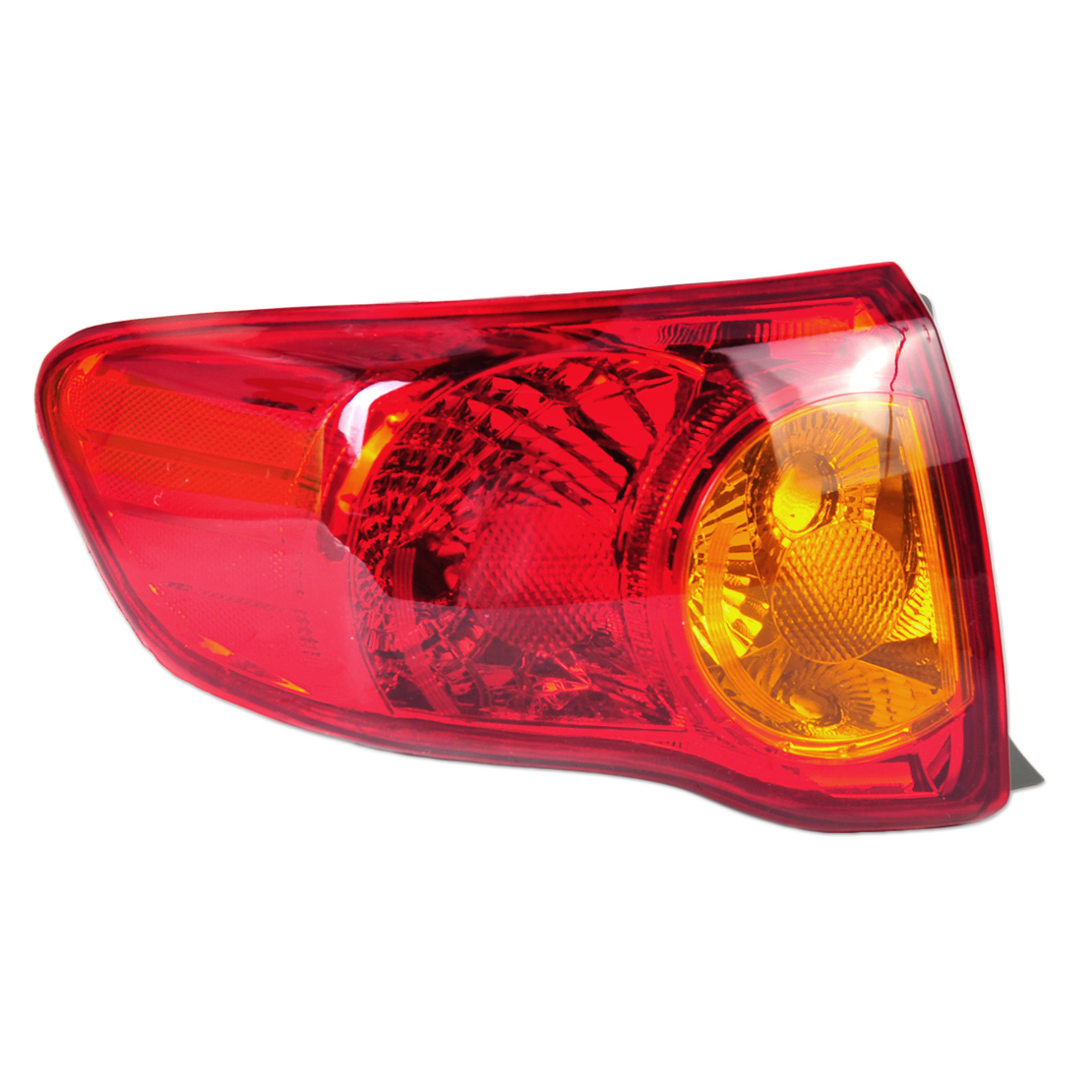beler LHD Rear Left Outer Tail Light Taillamp Driver Side Brake Light fit for Toyota Corolla 2009 2010 TO2800175 166-50863L 1 pcs lh left side outer taillamp tail light rear lamp light for ford mondeo 2011 2012