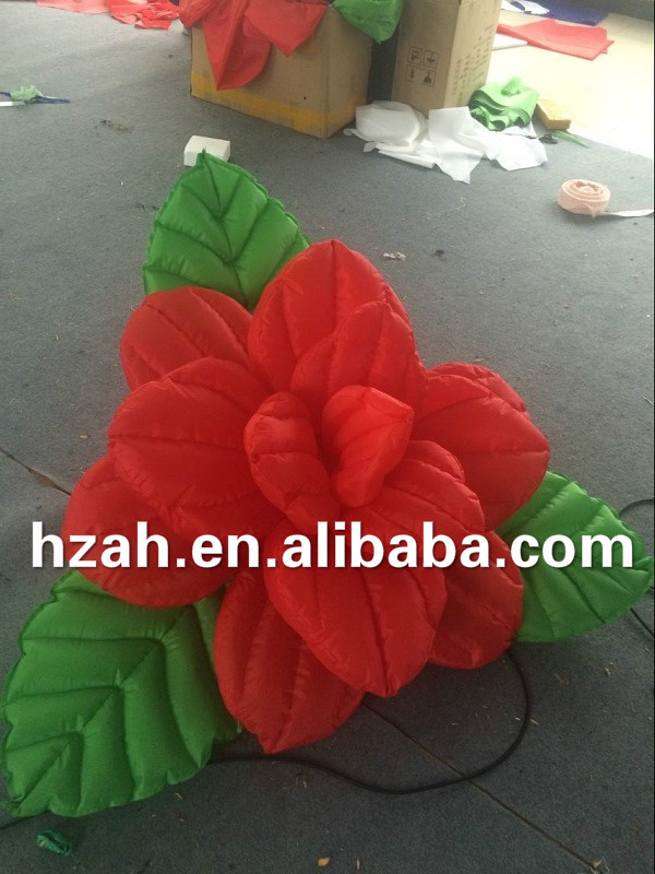 Giant Inflatable Red Rose Flowers for Wedding Decoration inflatable cartoon customized advertising giant christmas inflatable santa claus for christmas outdoor decoration
