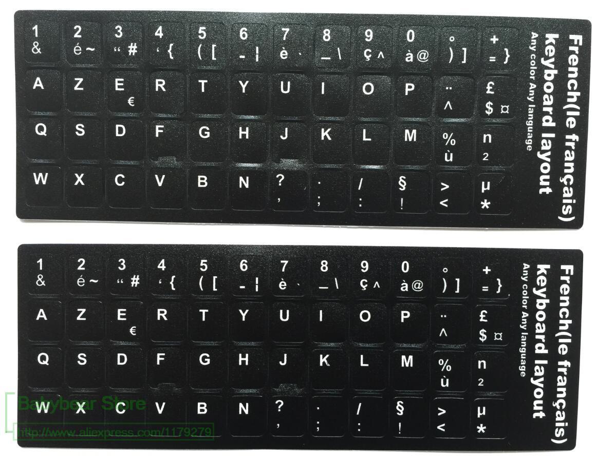 100pcs French Azerty Keyboard Sticker for Azerty Keyboard Best Quality