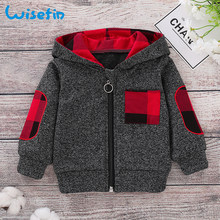 Wisefin Baby Boys Jackets Winter Clothes Hooded Baby Coat Infant Hoodies Baby Coats and Jackets Zipper Outerwear Cotton Tops D30(China)