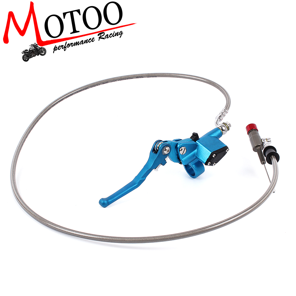 7/8 Inch Universal Motorcycle Pit Dirt Bike Hydraulic Brake Clutch Lever Master Cylinder 1200mm for 22mm 7 8 handlebar motorcycle dirt bike universal stunt clutch lever assembly cnc aluminum