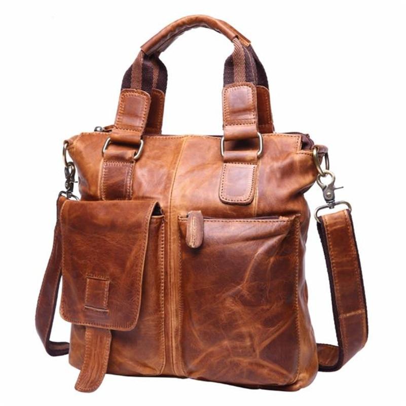 Men's Bag Brown bolsa masculina bolsas de luxo mulheres sacos de designer Satchel Laptop Briefcase Buffalo Leather Messenger Bag amarelo bolsas para mulheres totes bolsa de ombro saco crossbody bolsa de mensageiro lady messenger cross body bags sacoche