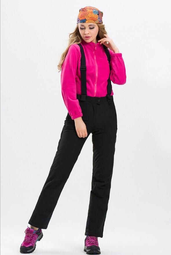 Pantalon de Ski chaud imperméable à l'eau 2018 pantalon de Sports de plein air d'hiver pantalon de Ski coloré de haute qualité pantalon de Snowboard solide de grande taille - 4