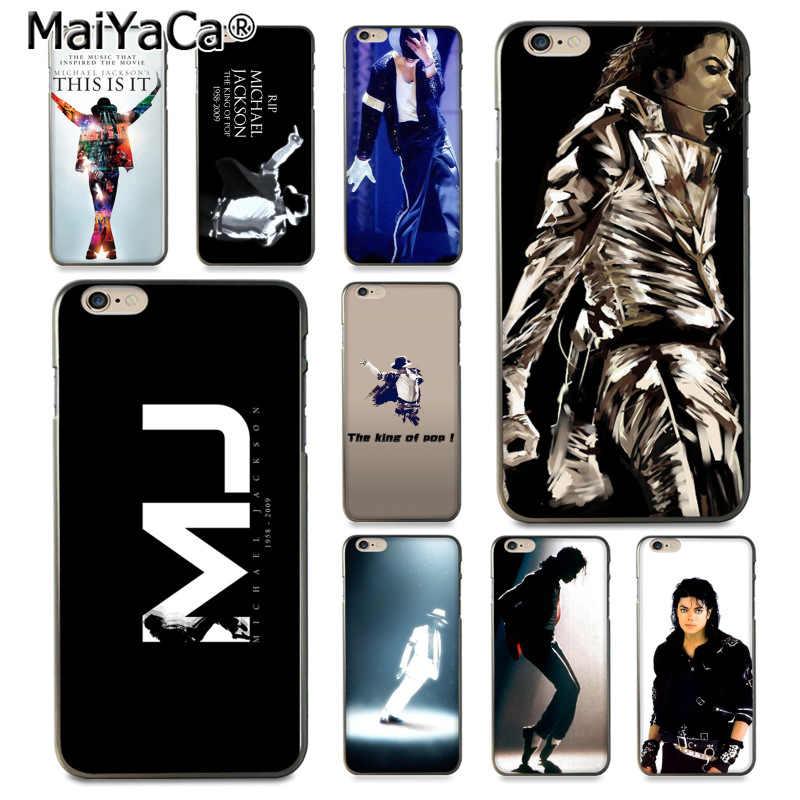 MaiYaCa Michael Jackson รายละเอียดยอดนิยมสำหรับ iPhone 8 7 6 6S Plus X 10 5S SE 5C Coque Shell
