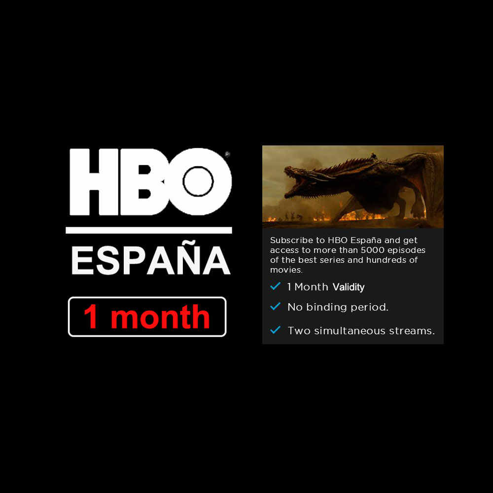 1 Month HBO Spain Account With Popular Films Support Spanish Subtitles For Android TV Box IOS Android Phone Smart TV PC Laptop