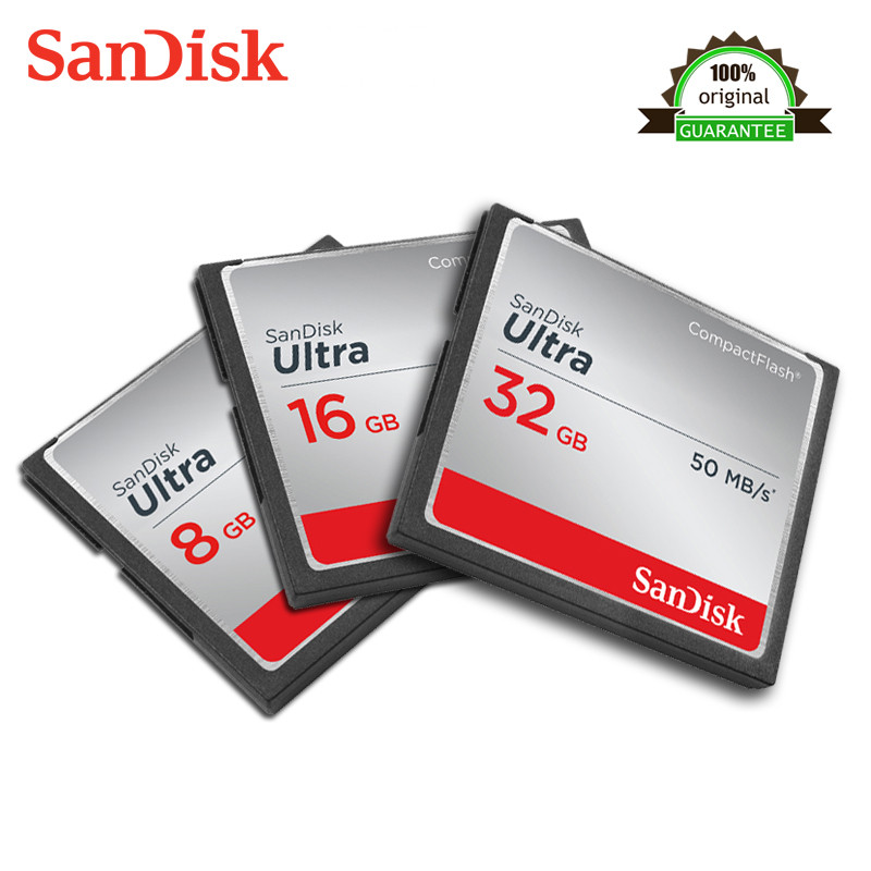 SanDisk Ultra 16GB Compact Flash Memory CF Card Speed Up To 50MB //s