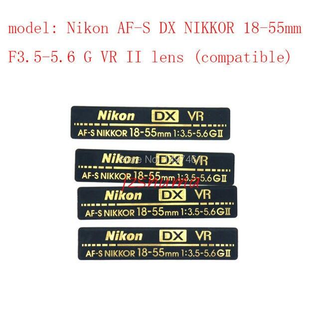 Новый оригинальный объектив Логотип/Этикеток/модель Ремонт частей Для Nikon AF-S DX NIKKOR 18-55 мм F3.5-5.6 G VR II объектив