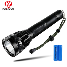 PANYUE LED Tactical Flashlight Torch XHP50 High Power 5000Lumens Aluminum Powered by 2* 18650 Battery