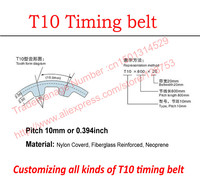 Metric Trapezoid T10 Timing Belts Pitch 10mm Or 0 394 Rubber Customizing All Kinds Of T10