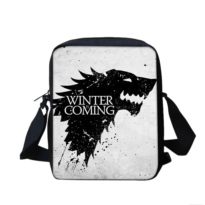 2017 new fashion men and women's postbag cartoon Wolf stamp shoulder bag girl 3D printing school satchel mini bag new lone wolf and cub v 7