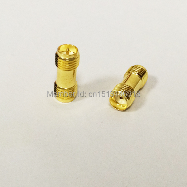 1pc RP SMA Female Jack  to  SMA  Female Jack  RF Coax Adapter convertor  Straight  goldplated NEW wholesale 2pcs lot yt70b rp sma male plug switch sma female jack rf coax adapter convertor connector straight goldplated sell at a loss
